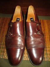 MIGUEL ANGEL MENS  15 M. BROWN DOUBLE MONK STRAP LEATHER DRESS SHOE-$59.99