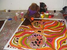 "ABORIGINAL ART PAINTING by LYNETTE CORBY NUNGURRAYI ""MY COUNTRY"" Authentic, WIP"
