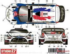 Ford fiesta 1/24'14 monte carlo #11 royal bernard decal set par studio 27 DC1086