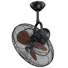 "NEW 18"" Bronze Oscillating Adjustable Indoor Outdoor Ceiling Fan! Damp Rated"