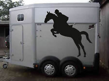 STICKER DECAL JUMPING HORSE 80CM X 80CM HORSE BOX TRAILER PONY TACKROOM STABLE