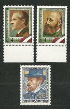 Austria 1989 SC#1482-84.George Traki,Lidwig Anzengruber, Alvred Fried. MNH. VF