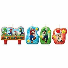 Mario Brothers Birthday Candle Set (4-pc) - NEW