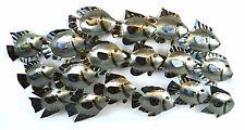 SCHOOL FISH METAL CUTOUT WALL ART CONTEMPORARY HOME DECOR TROPICAL ISLAND MODERN