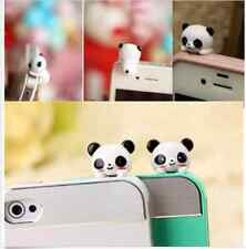 Mobile Phone Panda Cartoon Anti-Dust Plug Earphone Cover Stopper Puppy WWS
