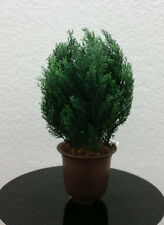 """Potted 16"""" Green Artificial Young Cedar Pine Tree"""