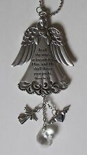 e In all ways Acknowledge Him direct your path GUARDIAN ANGEL CAR MIRROR CHARM