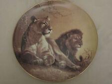 ATARAH - LION collector plate DOUGLAS VAN HOWD Big Cats RARE
