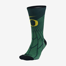 Nike Oregon Ducks NCAA College Crew Socks NWT sz L 8-12 Duck Basketball Dri-Fit