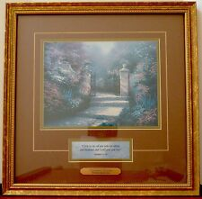 1998 Thomas Kinkade Victorian Garden Accent Print Certificate of Authenticity