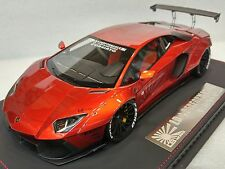 Lamborghini Aventador LB Performance Widebody Chrome Monza Red bbr APM 1:18