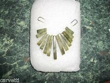 Nephrite Jade Mini Collar, Cleopatra Egyptian Fan 13 pieces