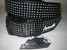 Armourdillo Riddle Belt Black Split Leather NWT Size L Mens