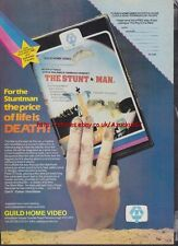 The Stunt Man Guild Home Video Pre-Cert Mag. Advert #1443