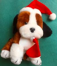 Christmas Dog Puppy Stocking Stuffed Animal Decoration 7 inches tall