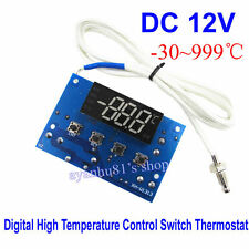 12V -30~999℃ Digital High Temperature Control Switch Thermostat K Thermocouple