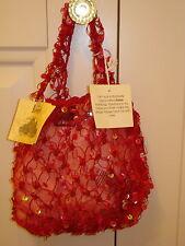 BNWT Torba Donna/Ragazza Splendido Rosso Borsetta da Harrods