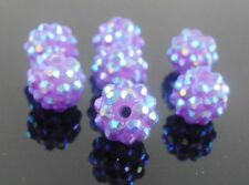 Free Ship! Shamballa 12mm/14mm Disco Resin crystal Ball Beads Fit Bracele Etc.
