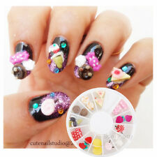 1Box Nail Art Applique Studs Cute Candy Craft Decorations For Manicure DIY