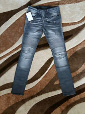 BNWT Authentic Men's Gray  Balmain Jeans Made In Japan Size 33, RRP $953