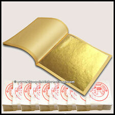 500 GOLD LEAVES LEAF SHEETS - 24 Carat - 999/1000 Pure - FOOD GRADE - EDIBLE