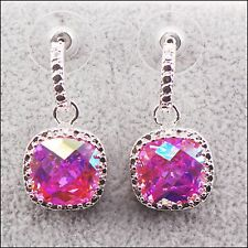 Beautiful Rose Rainbow Mystic Topaz Sterling Silver Earrings