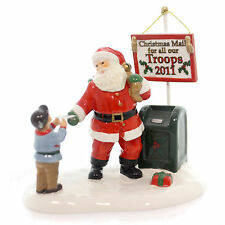 Dept.56 SNOW VILLAGE Santa Comes To Town 2011 #4020956 -MAIL THE TROOPS - LTD ED