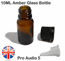 5x 10ml Amber Glass Dropper Bottles - Empty - Aromatherapy & Essential Oils UK
