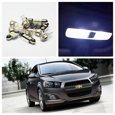 13 x White  Interior LED Lights Package Kit for 2012-2013 Chevrolet Chevy Sonic
