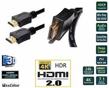2m Premium v2.0 HDMI 24k Gold Cable 4K 3D Ultra HD ARC High Speed+Ether-Next Day
