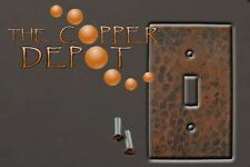 Copper SingleToggle Hammered Switchplate To Match Sink