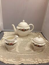 WEDGWOOD CHINA TEAPOT SUGAR CREAMER CONWAY PATTERN