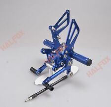 Blue CNC Rearset Foot pegs Rear set For Suzuki GSXR 600/750 1997-2005