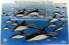 DOLPHIN STAMPS FROM JERSEY WORLD ENVIRONMENT DAY 2000 OCEAN MARINE LIFE SEALIFE