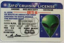 UFO Crusin' License Novelty - Route 66 - Funny UFO Space Alien