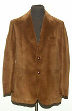 "BONDWAY FOR MEN CORD CORDUROY BLAZER JACKET 42"" BROWN"