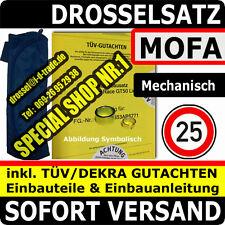 mech. Mofadrossel YAMAHA AEROX SA14 VG5SA144 Drossel Mofa 25km/h TÜV Gutachten