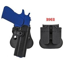 Hunting Tactical Colt 1911 M1911 RH Pistol Paddle &Belt Holster Gun Holster