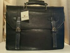 Scully Western Briefcase Hidesign Calf Leather Buckle Closure H164-07 Overnight