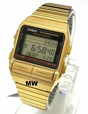 Casio Gold Tone DataBank Data Bank Vintage Mens Ladies Watch DB380G DB-380G-1D