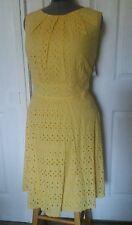 Dressbarn Woman's Sleeveless Yellow Dress SZ 18W. Gorgeous Embroidery/Lace Dress
