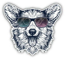 Pembroke Welsh Corgi Dog Hipster Car Bumper Sticker Decal 5'' x 5''