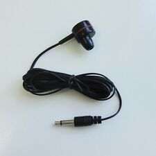 3.5mm Mono Earphone earpiece earbud headphone BLACK color