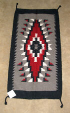 """Throw Rug Tapestry Southwest Western Hand Woven Wool 20x40"""" Replica #326 B"""