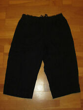 cotton traders navy blue leisure crop trousers size 30 small brand new & tag
