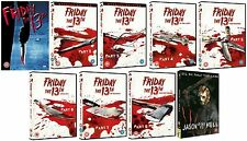 FRIDAY THE 13TH Complete DVD Movie Collection Part 1 2 3 4 5 6 7 8 9 All Films