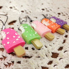 2 Pcs Squishy Soft CUTE Ice Cream Phone Straps Charm Random Chain Ring HOT SALE