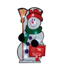 Premier Light Up BATTERY Christmas Window Silhouette - Snowman