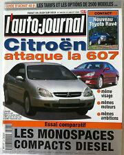L'AUTO-JOURNAL du 13/07/2000; Essai comparatif Monospaces compacts Diesel