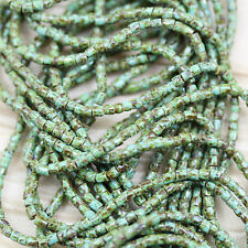 """RARE!!! 9/0  3Cut Blue Turquoise Picasso Czech seed beads - 1hank - 10/18"""""""